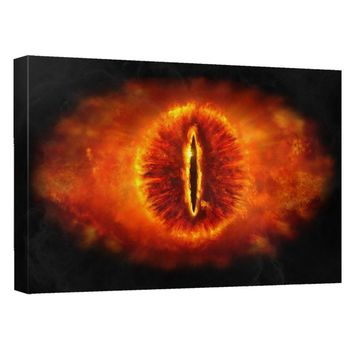 Lord Of The Rings - Eye Of Sauron Canvas Wall Art With Back Board