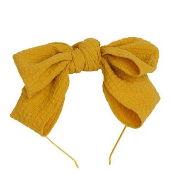 Project 6 NY Mustard Floppy Muslin Headband