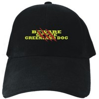 BEWARE OF THE Greenland Dog Black Baseball Cap Unisex