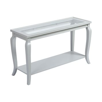MCFARLAND GREY WHITE CONSOLE TABLE