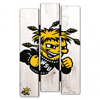 Wichita State Shockers Wood Fence Sign