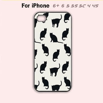 Lots of cute cats Phone Case For iPhone 6 Plus For iPhone 6 For iPhone 5/5S For iPhone 4/4S For iPhone 5C-5 For iPhone 7 7Plus Colors Available