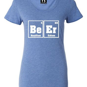 Womens The Element Of Beer Funny College Drinking Science Tri-Blend T-shirt