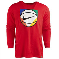 Nike ASG All Star Game Hyper QS L/S Dri Fit T-Shirt - Red