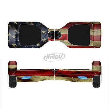 The Dark Wrinkled American Flag Full-Body Skin Set for the Smart Drifting SuperCharged iiRov HoverBoard