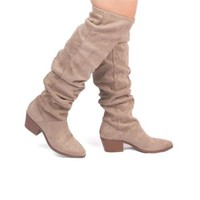 Dash Over The Knee Boots In Taupe
