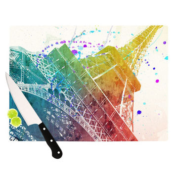 "Nika Martinez ""Paris Je T'aime"" Watercolor Cutting Board"