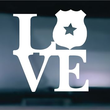 Love Police Vinyl Graphic Decal
