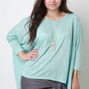 Boxy Cut Dolman Sleeve Top
