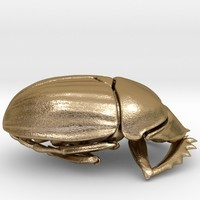 Scarab pendant by dadrummond on Shapeways