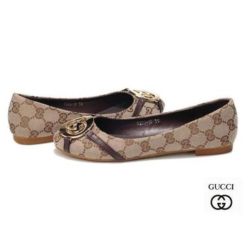 GUCCI Women Fashion Slip-On Low heeled Shoes-1