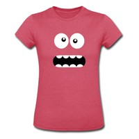 Funny Cartoon Monster Face - Crazy / Smiley T-Shirt