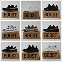 2017 Adidas Originals Yeezy 350 Boost V2 Beluga Sply-350 Black White Black Peach Men Women Running Shoes Kanye West Yezzy Boost 350 With Box I
