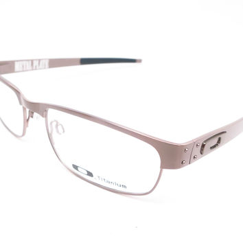 Oakley Metal Plate OX5038-06 Brushed Chrome Eyeglasses