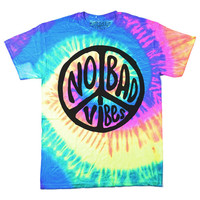 No Bad Vibes Tie Dye T-Shirt (Neon)