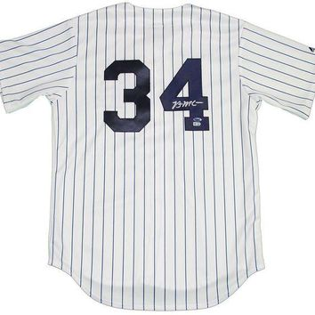 ONETOW Brian McCann Signed Autographed New York Yankees Baseball Jersey (MLB Authenticated)