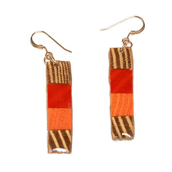 stacked blocks earrings