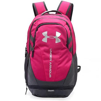Under Armour 2018 Men's and Women's Large Capacity Computer Backpack F0676-1 pink