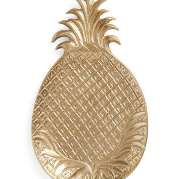 Gold Large Pineapple Tray