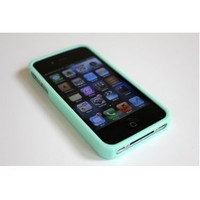 Silicone Case for iPhone 4 4S - Happymori Sherbet Topping Series + Screen Protector - Mint colors