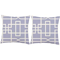 Greek Key Purple Throw Pillows