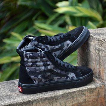 Best Online Sale Vans Sk8 Camouflage Camo Mid Sneakers Canvas Shoes FS101