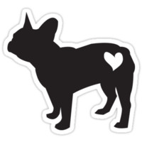 'French bulldog' Sticker by Hannachu