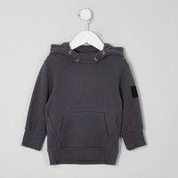 Mini boys grey brushed jersey hoodie - Baby Boys Tops - Mini Boys - boys