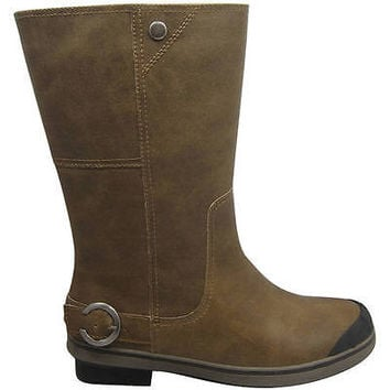 Cold Front Womens' Tall Buckled Winter Boots, 8, Brown