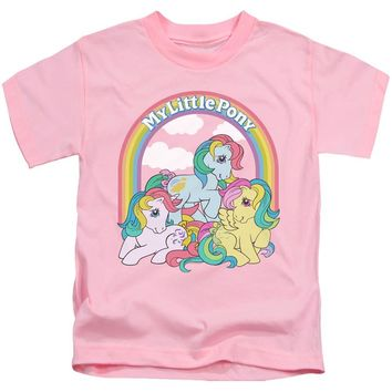 My Little Pony Boys T-Shirt Under The Rainbow Pink Tee