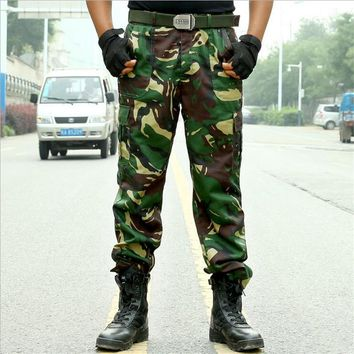 Loose Camouflage Men Cargo Pants Men Casual Tactical Pants Army Green Camo Workwear Trousers Military Pants Plus Size