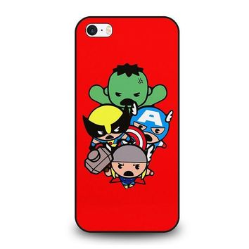 kawaii captain america hulk thor wolverine marvel avengers iphone se case cover  number 1