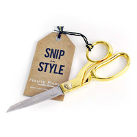 Snip in Style Gold Scissors
