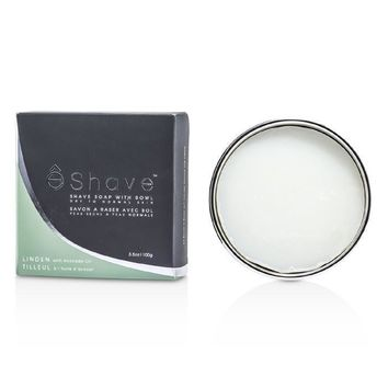 Shave Soap With Bowl - Avocado Oil & Linden - 100g-3.5oz