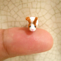 Micro Bunny Rabbit Amigurumi - Mini Crochet Tiny Stuff Animals - Made To Order