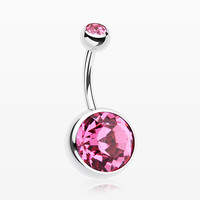 The Giant Sparkle Gem Ball Belly Button Ring