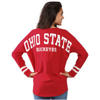 Ohio State Buckeyes Women's Ohio State Cheer Long Sleeve Jersey T-Shirt - Scarlet