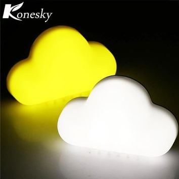 Magnetic Sound Control Cloud LED Night Light Rechargeable Wall Lamp