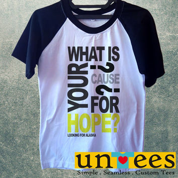 John Green Cause for Hope Short Raglan Sleeves T-shirt