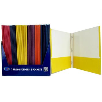 Twin Pocket Folders with Fasteners - CASE OF 100