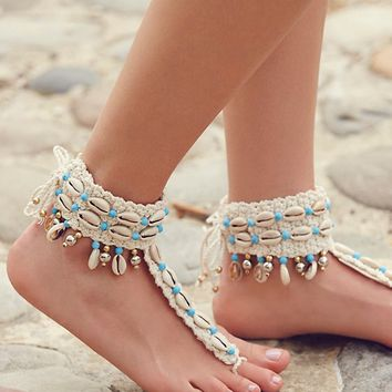 Free People High Seas Shell Barefoot Sandal