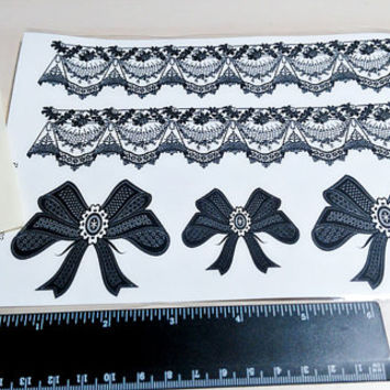 temporary tattoo large lace/ like a garter