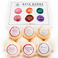 [FLASH SALE] Bath Bomb Gift Set, 6 Pack - Organic Bath Bombs - Lush & Fizzy Bath Bomb Gift for Her w/ Pure Essential Oil Blends - Perfect as an Anniversary Gift, Birthday Gift for Mom, Etc. - Made in the USA