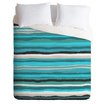 Viviana Gonzalez Painting Stripes 01 Duvet Cover