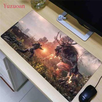 Yuzuoan The Witcher 3 Ultimate Gaming Mouse pad Natural Rubber Gamer Mouse Mat Pad Game Computer Desk Pad Mouse Play Mat As Gift