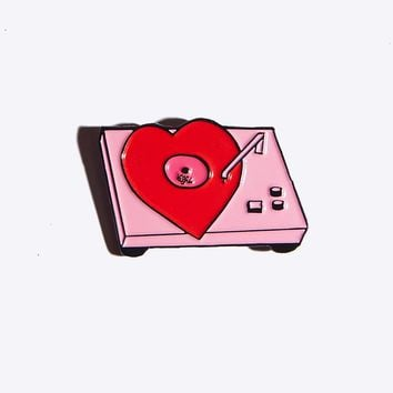 Record Babe Pin