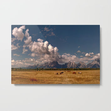 The Grand Tetons Metal Print by Lena Owens/OLenaArt