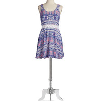 Patterned Fit-And-Flare Dress | Lord and Taylor