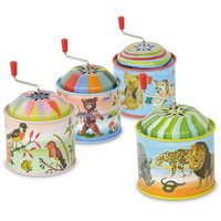 Retro Tin Music Boxes