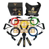 BEST RESISTANCE BANDS Exercise Equipment Workout Set (15 Pcs) - Home Gym Exercise Bands For Travel Rehab Crossfit Pilates & Physical Therapy - Comes With A BEAUTIFUL GIFT BOX